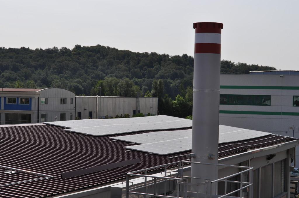 Immagine vista pannelli solari