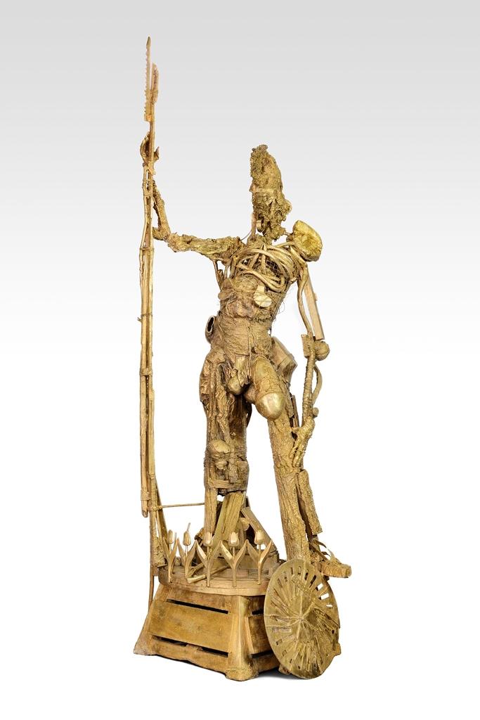 Pawel Althamer - Parys - h. cm. 350 in lega di rame speciale Gold, esposta alla Biennale di Venezia 2013