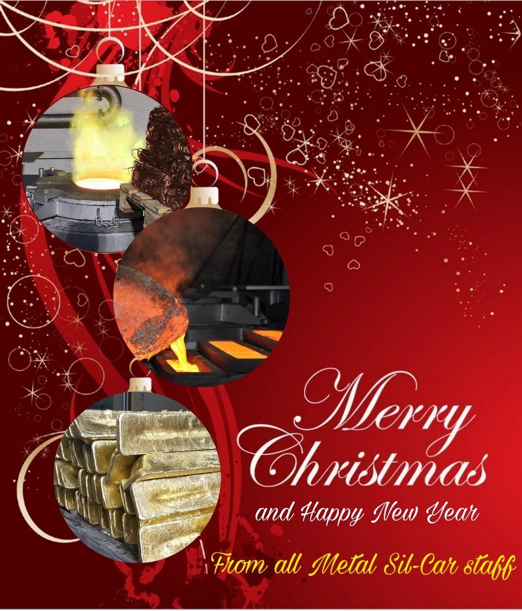 Buon Natale Anno Nuovo.Buon Natale E Felice Anno Nuovo Metal Sil Car Snc